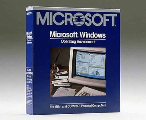 Windows 1.0 銷售外盒