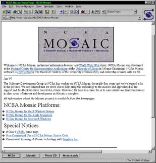 Mosaic瀏覽器