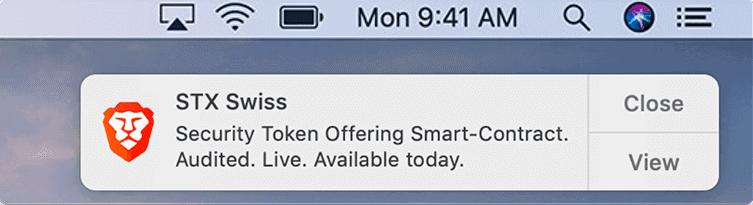 MacOS廣告出現方式