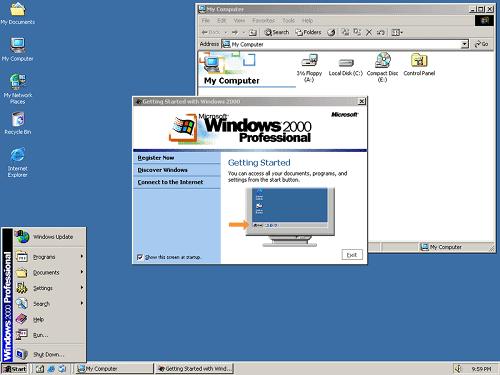 Windows 2000 介面