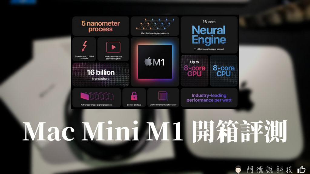 開箱評測 簡單開箱測試Mac mini M1-Apple M1 5奈米技術的CPU 3