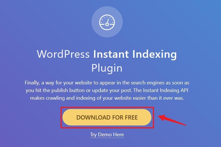 下載Instant Indexing for Google外掛