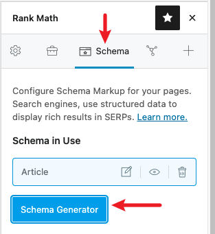 Rank Math Schema