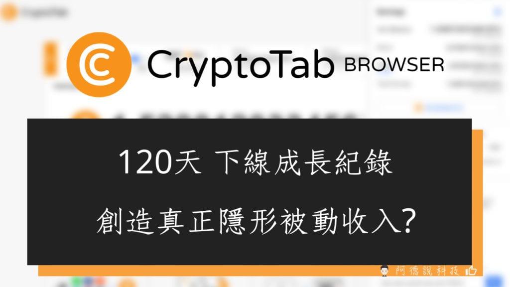 CryptoTab 挖礦紀錄 120天的下線人數成長 創造隱形的被動收入 1