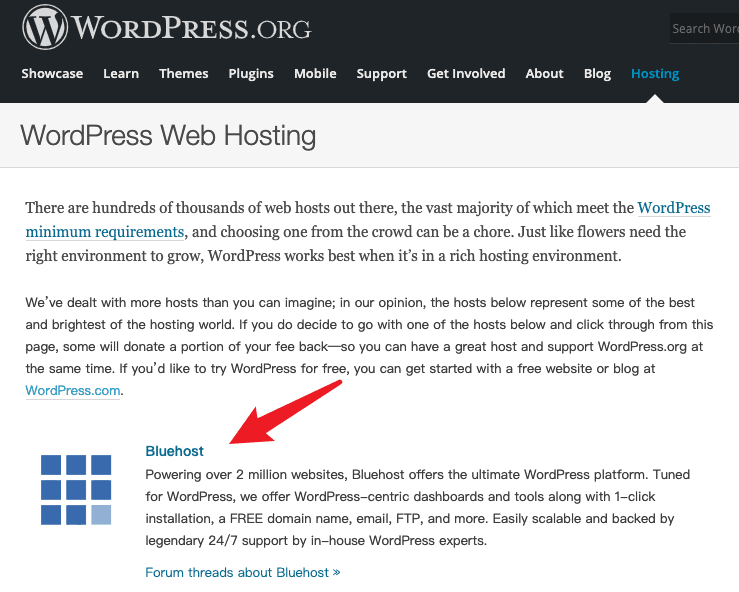 Wordpress-Bluehost